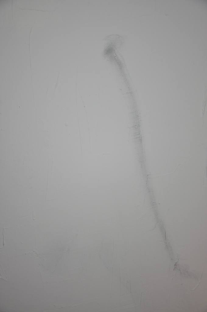 Title: Faint Drawing Two Materials: Graphite powder on drywall.
