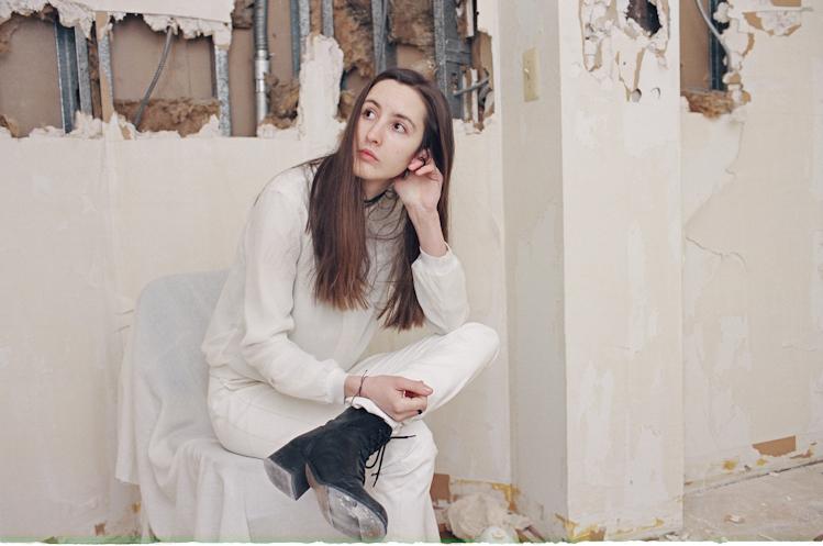 Crystal Dyer in her studio. Photo by Dan McMahon.