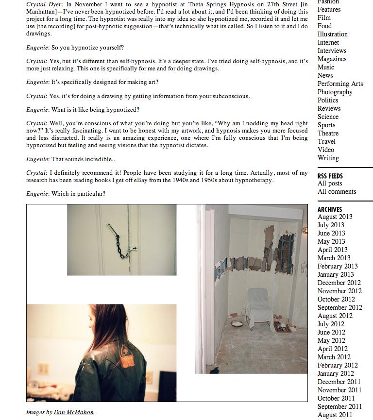 Dossier Press Crystal Dyer